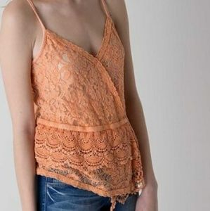 NWT BUCKLE GIMMICKS LACE CORAL TOP LARGE